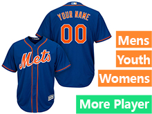 Mens Womens Youth Majestic New York Mets Blue Cool Base Jersey
