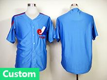 Mens Mlb Montreal Expos (custom Made) Blue Jersey