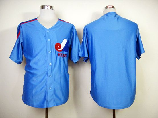 Mens Mlb Montreal Expos (custom Made) Blue Jersey
