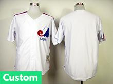 Mens Mlb Montreal Expos (custom Made) White Jersey