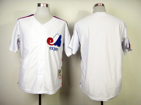 Mens Mlb Montreal Expos (custom Made) White Jersey