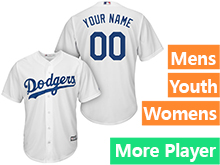Mens Womens Youth Majestic Los Angeles Dodgers White Cool Base Jersey