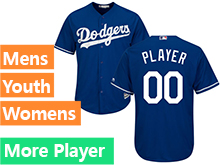 Mens Womens Youth Majestic Los Angeles Dodgers Blue Cool Base Jersey