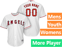 Mens Womens Youth Majestic Los Angeles Angels White Cool Base Jersey