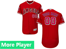 Mens Majestic Los Angeles Angels Red Flex Base Jersey