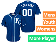 Mens Womens Youth Majestic Kansas City Royals Royal Cool Base Jersey