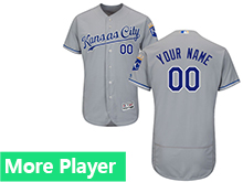 Mens Majestic Kansas City Royals Gray Flex Base Jersey