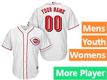 Mens Womens Youth Majestic Cincinnati Reds White Cool Base Jersey
