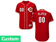 Mens Majestic Cincinnati Reds (custom Made) Red Flex Base Jersey