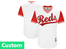 Mens Majestic Cincinnati Reds Custom Made White 2017 Players Weekend Jersey