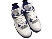 Mens Aj4 Basketbal Jordan Shoes White&purple
