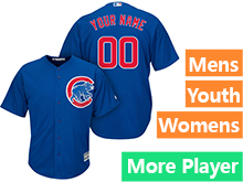 Mens Women Youth Majestic Chicago Cubs Blue Cool Base Jersey