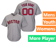 Mens Womens Youth Majestic Boston Red Sox Gray Cool Base Jersey
