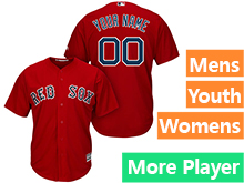 Mens Womens Youth Majestic Boston Red Sox Red Cool Base Jersey