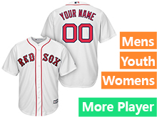 Mens Womens Youth Majestic Boston Red Sox White Cool Base Jersey