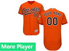 Mens Majestic Baltimore Orioles Orange Flex Base Jersey