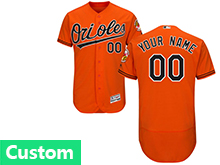 Mens Majestic Baltimore Orioles Custom Made Orange Flex Base Jersey