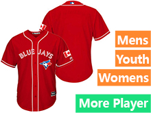 Majestic Toronto Blue Jays Red Cool Base Jersey