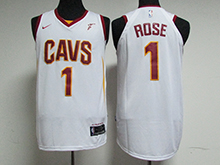 Mens Nba Cleveland Cavaliers #1 Derrick Rose White Nike Jersey