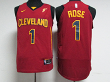 Mens Nba Cleveland Cavaliers #1 Derrick Rose Red Nike Jersey