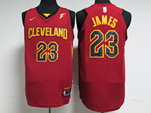 Mens Nba Cleveland Cavaliers #23 Lebron James Red Nike Jersey