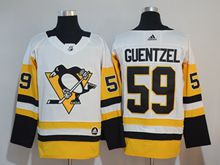 Mens Adidas Nhl Pittsburgh Penguins #59 Jake Guentzel White Premier Player Jersey