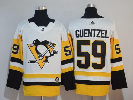 Mens Adidas Nhl Pittsburgh Penguins #59 Jake Guentzel White Premier Player Jersey