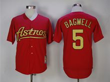 Mens Majestic Pittsburgh Pirates #5 Jeff Bagwell Red Turn Back Jersey