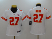 Women Nfl Kansas City Chiefs #27 Kareem Hunt White Vapor Untouchable Limited Jersey