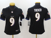 Women Nfl Baltimore Ravens #9 Justin Tucker Black Vapor Untouchable Limited Jersey