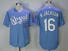 Mens Mlb Kansas City Royals #16 B. Jackson Blue (royals) Jersey