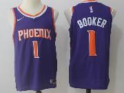 Mens Nba Phoenix Suns #1 Devin Booker Purple Road Nike Jersey