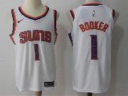 Mens Nba Phoenix Suns #1 Devin Booker White Home Nike Jersey