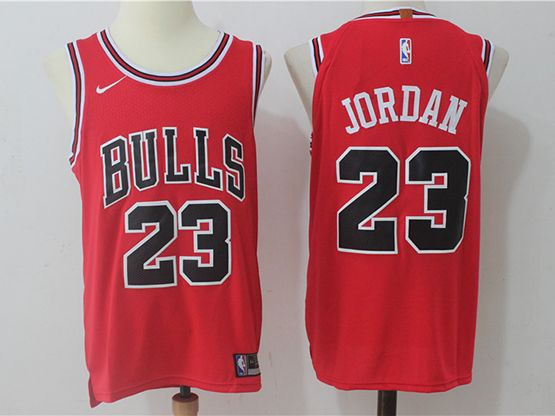 Mens Nba Chicago Bulls #23 Michael Jordan Bulls Red Authentic Nike Cotton Jersey