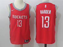 Mens Nba Houston Rockets #13 James Harden Red Nike Jersey