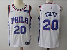 Mens Nba Philadelphia 76ers #20 Markelle Fultz White Nike Jersey