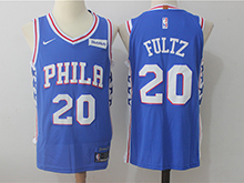 Mens Nba Philadelphia 76ers #20 Markelle Fultz Blue Nike Jersey