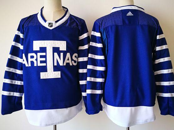 Mens Nhl Toronto Maple Leafs Blank Big T Blue Home Hockey Adidas Jersey
