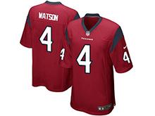 Mens Houston Texans Deshaun #4 Watson Nike Red 2017 Draft Pick Game Jersey