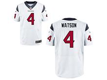 Mens Houston Texans #4 Deshaun Watson Nike White 2017 Draft Pick Elite Jersey