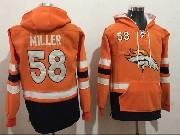 Youth Nfl Denver Broncos #58 Von Miller Orange Pocket Team Hoodie Jersey