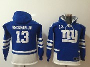 Youth Nfl New York Giants #13 Odell Beckham Jr. Blue Pocket Team Hoodie Jersey