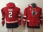 Youth Nfl Atlanta Falcons #2 Matt Ryan Red Pocket Team Hoodie Jersey