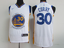 Mens Nba Golden State Warriors #30 Stephen Curry White Nike Jersey