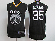 Mens Nba Golden State Warriors #35 Kevin Durant Black The Town Nike Jersey