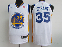 Mens Nba Golden State Warriors #35 Kevin Durant White Nike Jersey