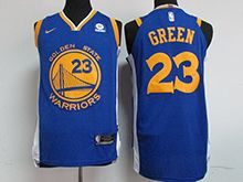 Mens Nba Golden State Warriors #23 Draymond Green Blue Nike Jersey
