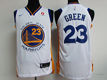 Mens Nba Golden State Warriors #23 Draymond Green White Nike Jersey