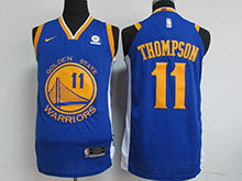 Mens Nba Golden State Warriors #11 Klay Thompson Blue Nike Jersey