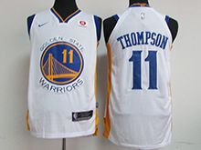 Mens Nba Golden State Warriors #11 Klay Thompson White Nike Jersey